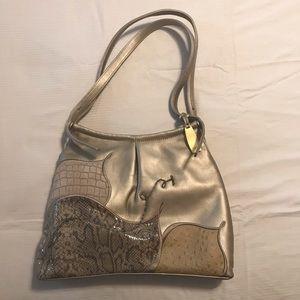 Impulse by Sharif gold handbag